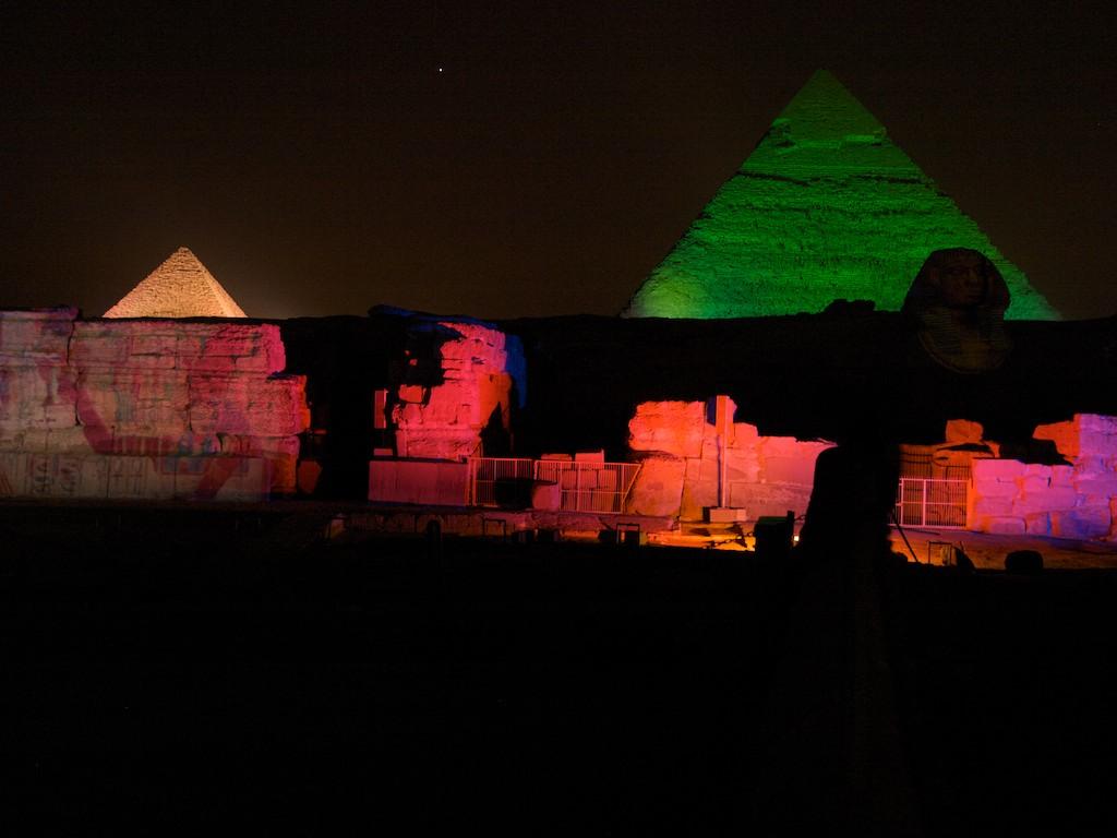 Подсветка пирамид