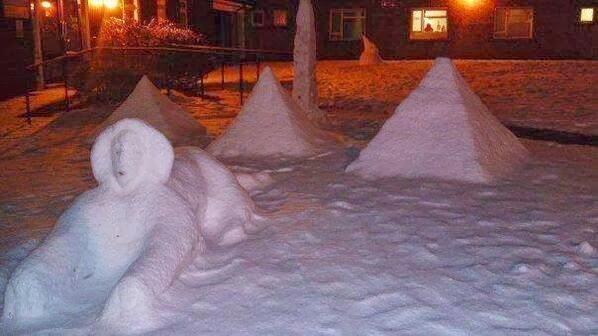 Снег в Гизе выпадает не чаще одного раза в сотню лет