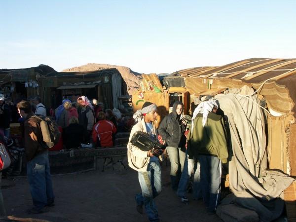 Бедуины и туристы, гора Моисея
