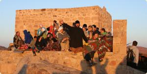 На вершине горы Моисея в Синае